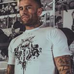 """T-shirt JP """"CZASZKA"""" biały"""