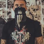 """T-shirt JP """"CZASZKA"""" czarny"""