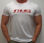 "T-shirt JP ""FIRMA JP"" white/red"
