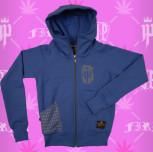 bluza dresowa damska niebieski (szary) - nowy model